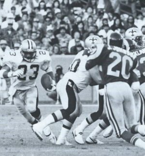 New Orleans Saints Fullback Buford Jordan gets the call against Los Angeles in 1988