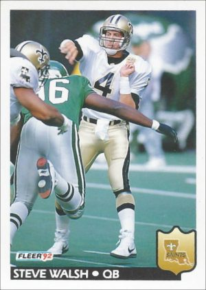 Steve Walsh 1992 Fleer Football Card