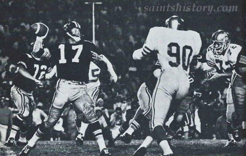 1969 New Orleans Saints in Black Helmets