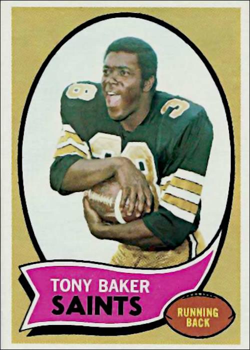 Tony Baker New Orleans Saints 1970 Topps Trading Card
