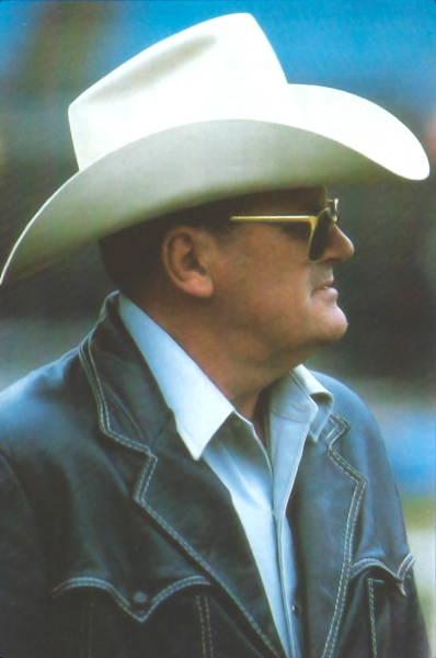 Saints Head Coach Bum Phillips in 1983