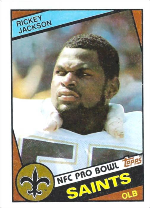 Rickey Jackson 1984 New Orleans Saints Topps Football Card
