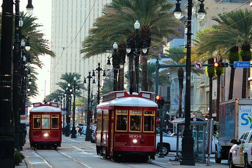 A trolley from Downtown New Orleans