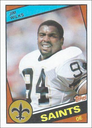 Jim Wilks 1984 New Orleans Saints Topps Football Card