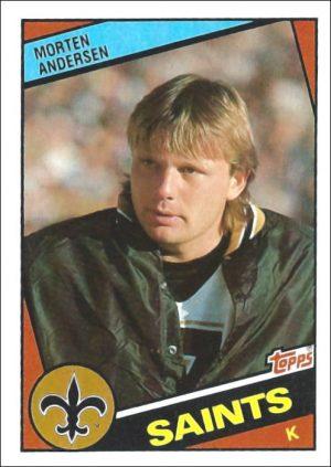 Morten Andersen 1984 New Orleans Saints Topps Football Card