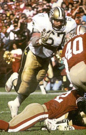 New Orleans Saints Offensive Lineman Stan Brock in 1991