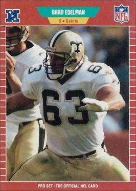 Brad Edelman 1989 New Orleans Saints Pro Set Football Card