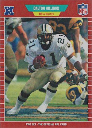 Dalton Hilliard 1989 New Orleans Saints Pro Set Football Card