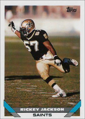Rickey Jackson 1993 New Orleans Saints Topps Football Card