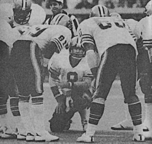 Archie Manning in the New Orleans Saints Huddle
