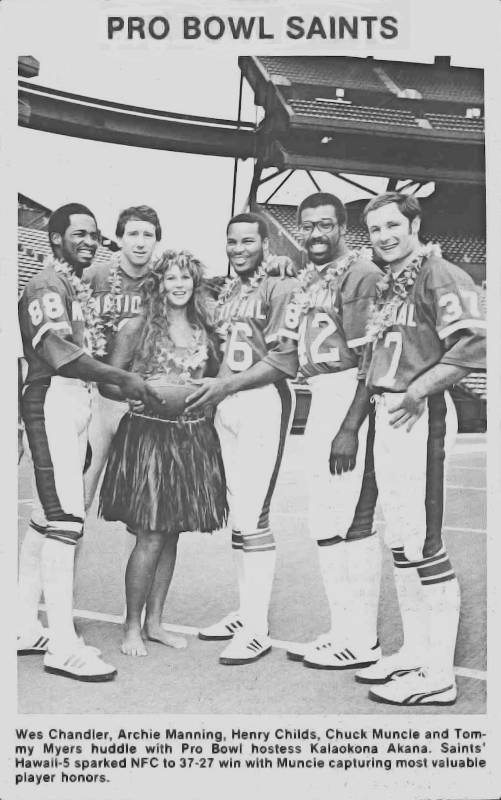 New Orleans Saints Pro Bowl players from the 1979 season.