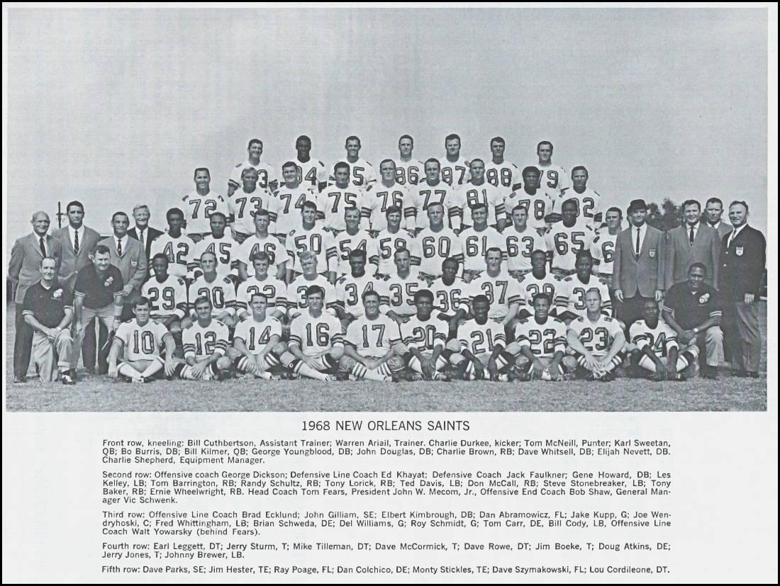 1968 New Orleans Saints Team Photo