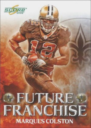 Marques Colston 2008 New Orleans Saints Score Future Franchise Football Card