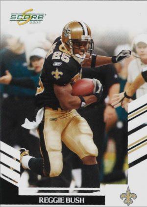 Reggie Bush 2007 New Orleans Saints Fleer Football Card #95