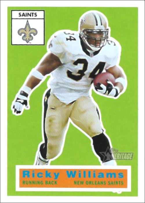 Ricky Williams 2001 New Orleans Saints Topps Heritage Football Card #28