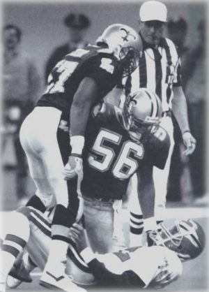 1989 New Orleans Saints Rickey Jackson and Pat Swilling Sack Randall Cunningham of the Eagles