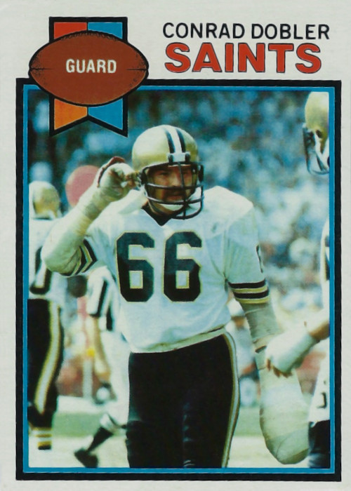 Conrad Dobler 1979 New Orleans Saints Topps Football Card