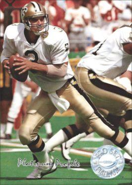Bobby Hebert 1991 New Orleans Saints Pro Set Platinum Football Card #PC1