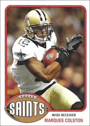 Marques Colston 2013 New Orleans Saint Topps Football Card #23