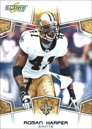 Roman Harper 2008 New Orleans Saints Score Football Card #199