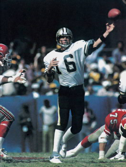 Saints Quarterback Kenny Stabler in 1983