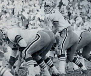 Billy Kilmer in 1968 with the New Orleans Saints Offense