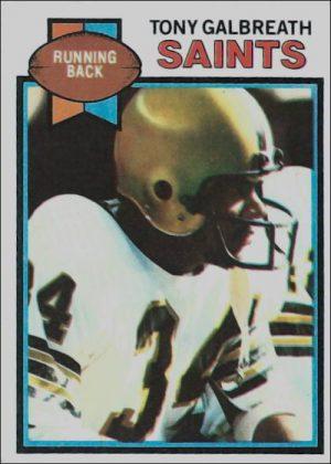 Tony Galbreath 1979 New Orleans Saints Topps Card #191