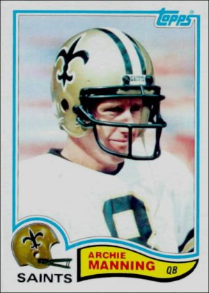 Archie Manning 1982 New Orleans Saints Topps Football Card #408