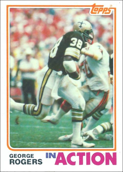 George Rogers 1982 Topps in Action Football Card #411