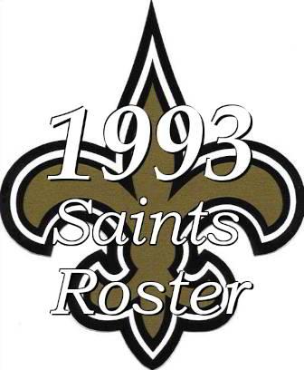 1993 New Orleans Saints NFL Roster