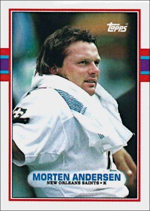 Morten Andersen 1989 New Orleans Saints Topps Card #153