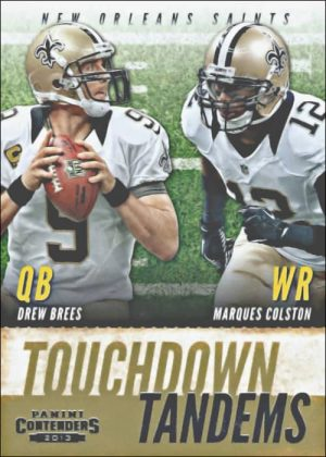 Drew Brees & Marcus Colston 2013 Panini Contenders Touchdown Tandems #7