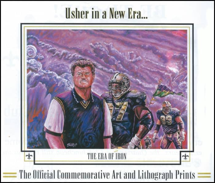 Era of Iron Mike Ditka Saints Head Coach Print