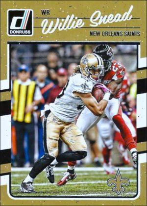 Willie Snead 2016 New Orleans Saints Donruss Football Card #192