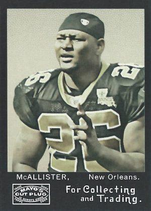 Deuce McAllister 2008 New Orleans Saints Topps Mayo Football Card #268