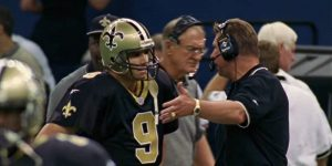 Jake Delhomme with Mike Ditka | the 1999 New Orleans Saints