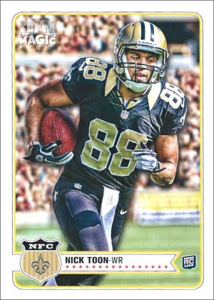 Nick Toon 2012 New Orleans Saints Topps Magic Rookie Card #164