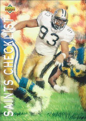 1993 Upper Deck New Orleans Saints Checklist | Wayne Martin #87