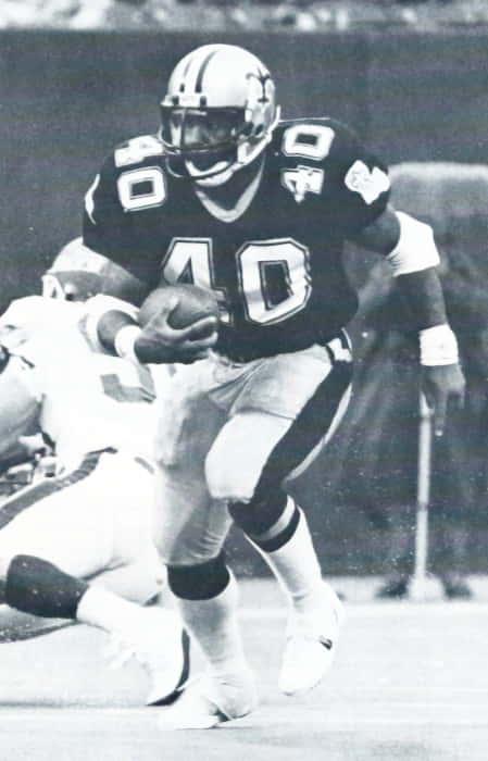 New Orleans Saints Rookie Dalton Hilliard in 1986