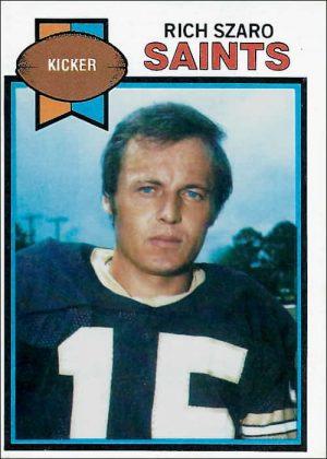 Rich Szaro 1979 New Orleans Saints Topps Football Card #293