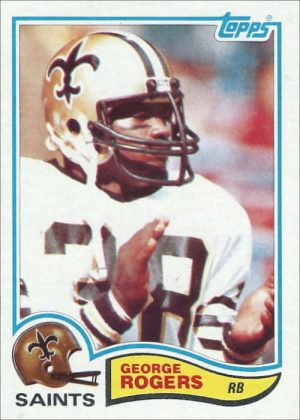George Rogers 1982 New Orleans Saints Topps Football Card #410