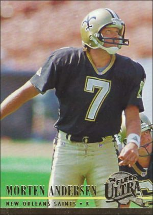 Morten Andersen 1994 New Orleans Saints Ultra Fleer Football Card