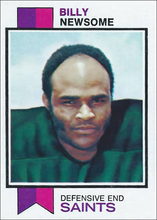 Billy Newsome 1973 New Orleans Saints Topps Football Card #218
