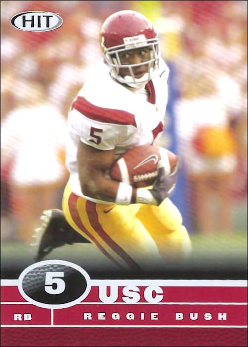 Reggie Bush 2006 USC Sage Hit Football Card #5