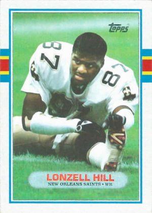 Lonzell Hill 1989 New Orleans Saints Topps Football Card #156