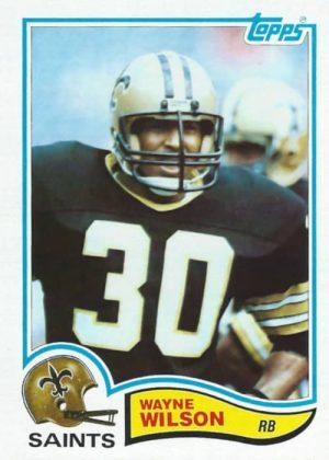 Wayne Wilson 1982 New Orleans Saints Topps Rookie Football Card #414