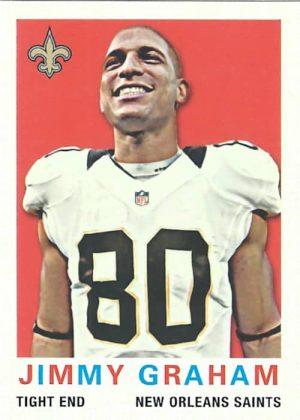 Jimmy Graham 2013 New Orleans Saints Topps Mini Football Card #37