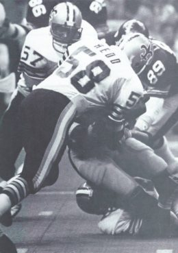 Rickey Jackson and Glenn Redd make a Tackle Against the Pittsburgh Steelers