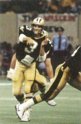 Saints Quarterback Bobby Hebert in 1987